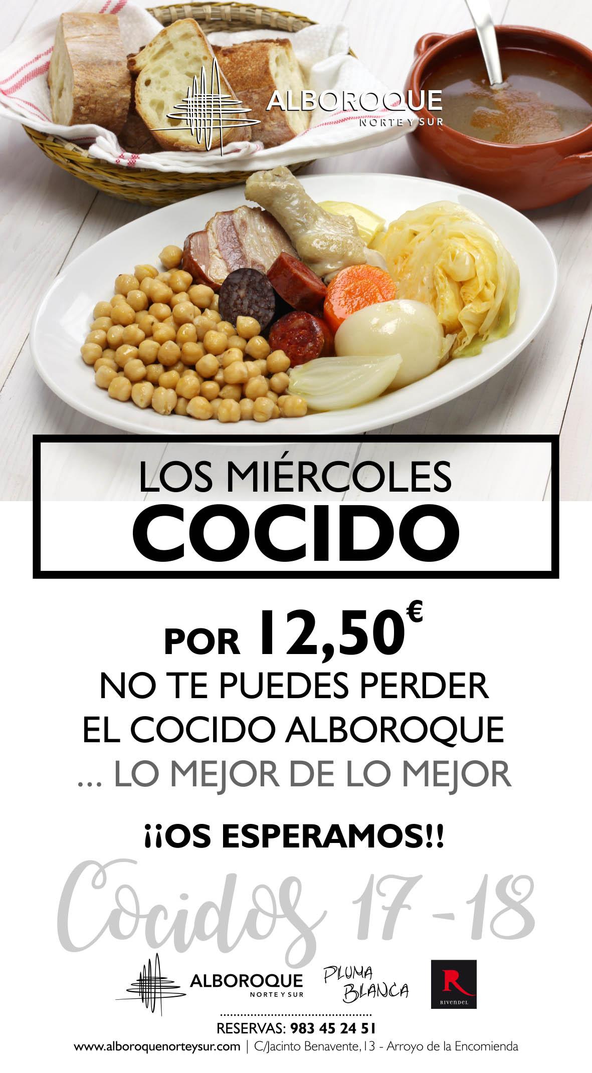 Menu de cocido en Valladolid, todos los miércoles en Restaurante Alboroque en Valladolid