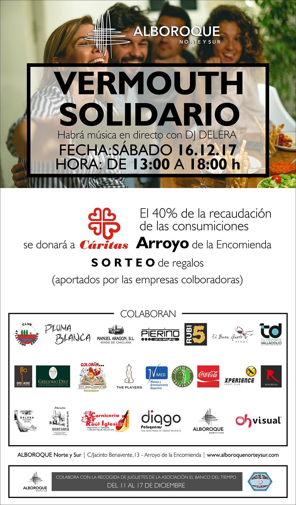 Restaurante Alboroque Vermouth solidario en arroyo de la encomienda valladolid