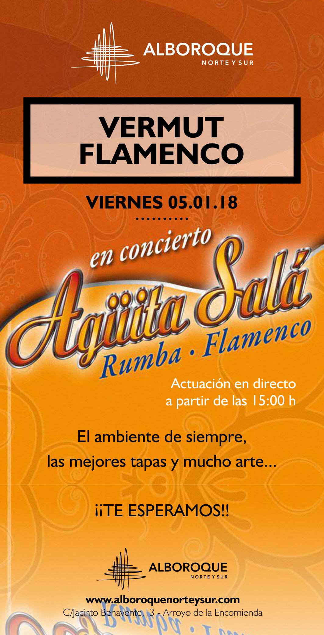 Agüita Salá rumba y flamenco en Arroyo de la Encomienda, te esperamos en Alboroque Norte y Sur