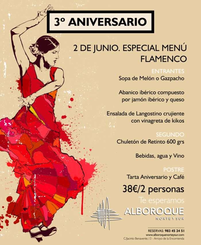 tercer-aniversario-vermouth-flamenco-agüita-salaá-2018-alboroque-norte-sur-menu-flamenco-chuleton-gazpacho-melon-jamon